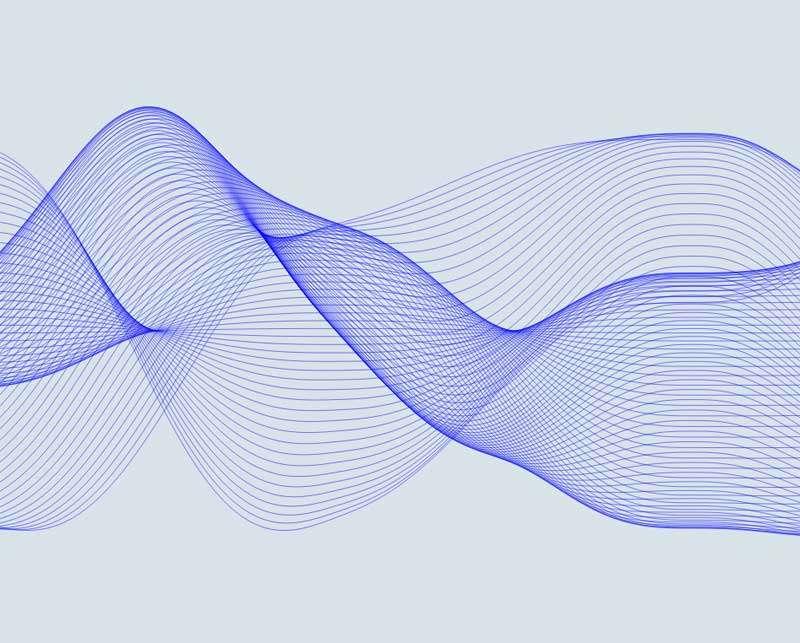 蓝色的网格波形动画特效