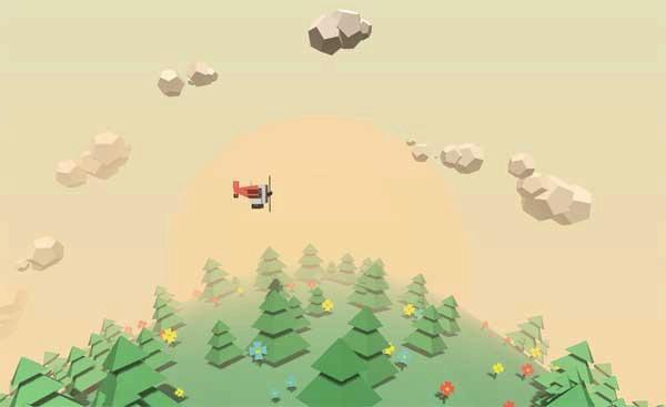 基于canvas绘制3D飞机穿越树林场景动画特效
