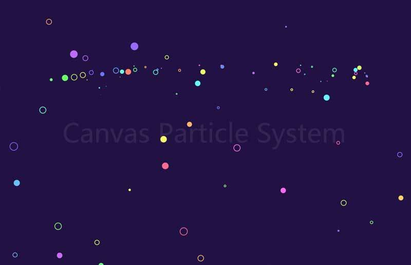 基于canvas绘制悬浮圆点背景动画特效