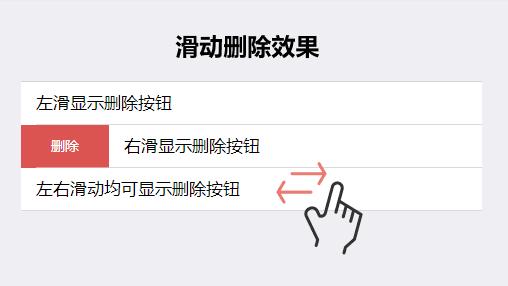 基于mui制作手机端列表滑动删除效果代码