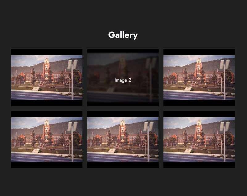 css3图片列表遮罩动画特效