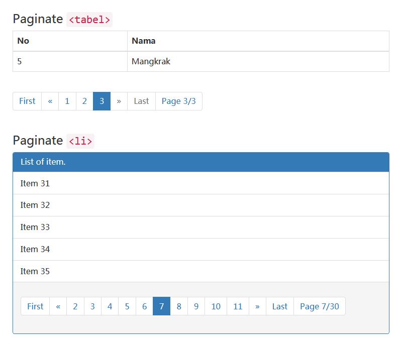 jQuery分页插件设置固定分页列表代码