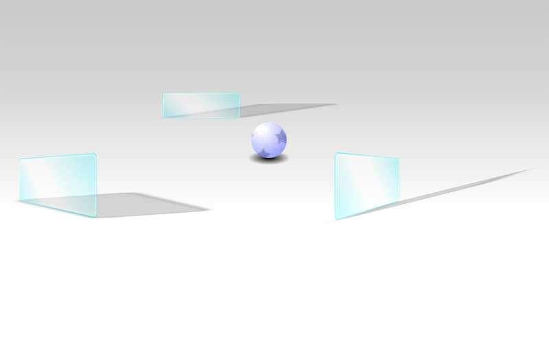 3D滚动的小球碰撞特效