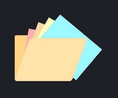 简单的文件夹打开ui特效