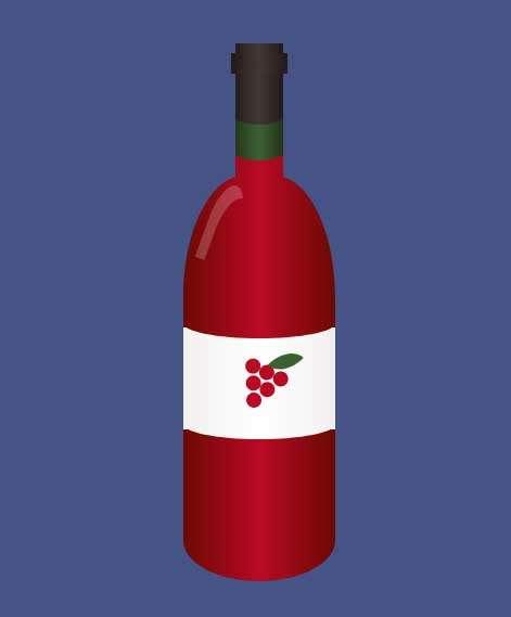 卡通的红酒瓶ui特效