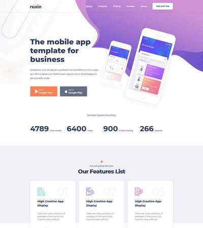 社交软件app介绍页面HTML模板