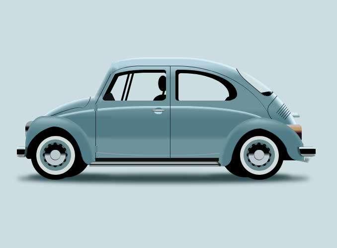 精美的3D卡通汽车图形特效