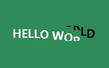 html5悬停文字字母翻转动画特效