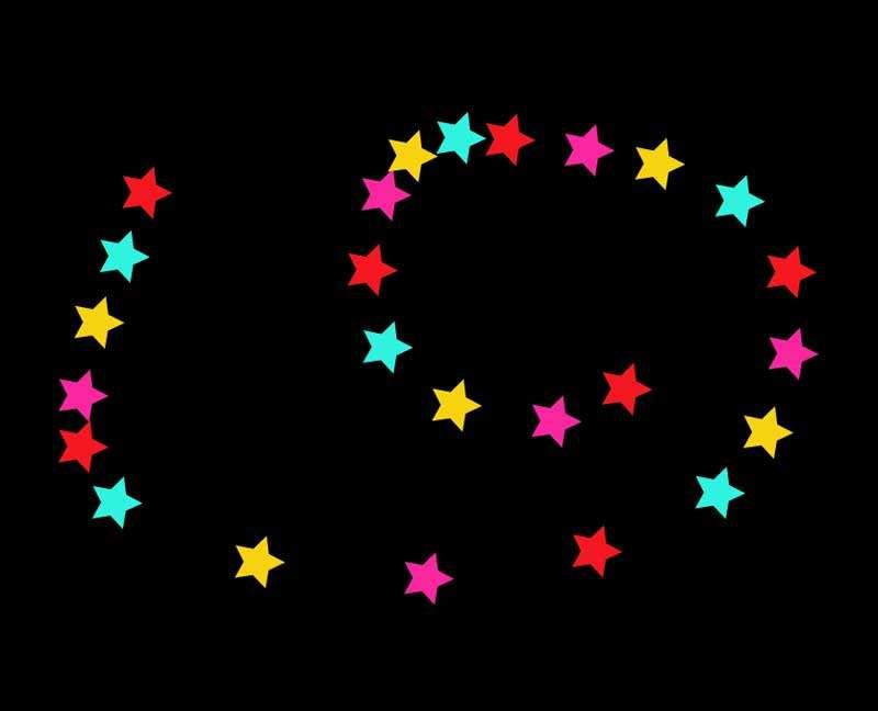 基于svg彩色星星光标动效