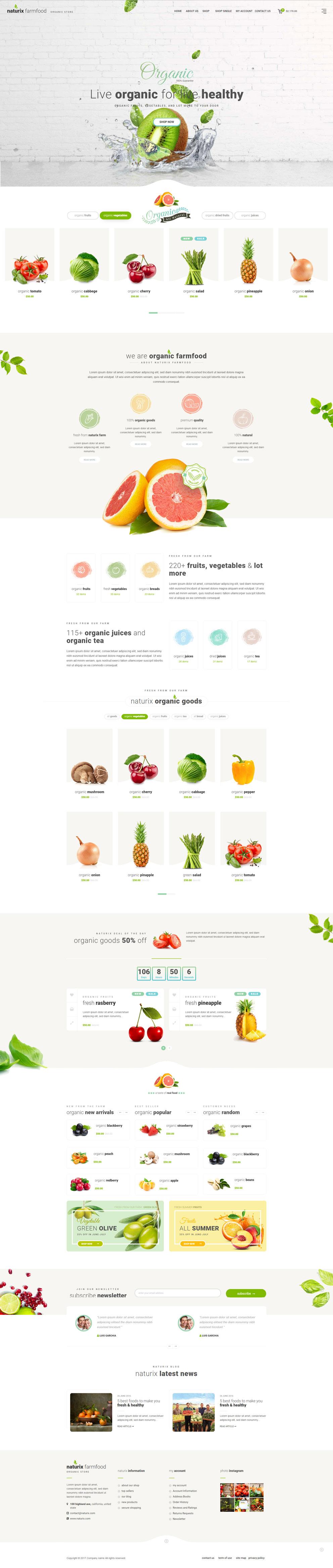 绿色清新响应式绿色农产品网站模板