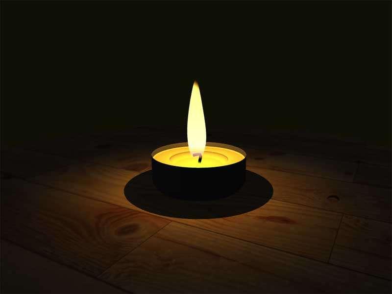 木板上的火焰蜡烛3D特效