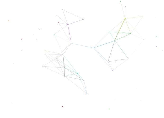 透明的全屏粒子光标动效