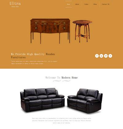 响应式家具类静态网页模板