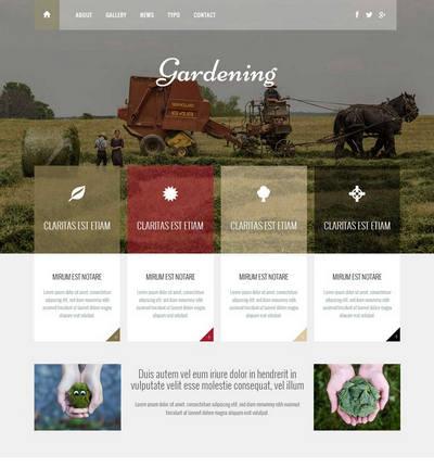 响应式农业绿色生态行业静态html