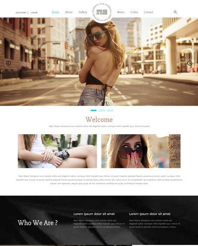 响应式摄影图集模特艺术展示类网