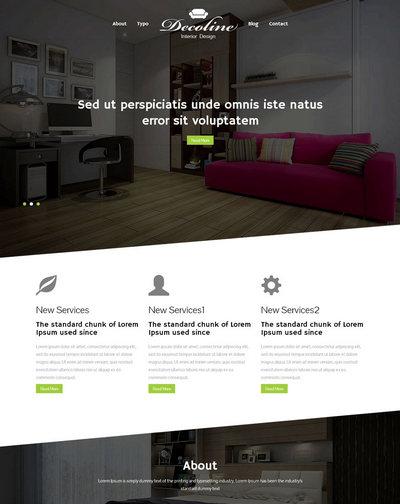 响应式室内家装设计类html网站模