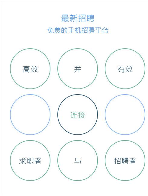 html5手机微博招聘专题页面动画模板下载
