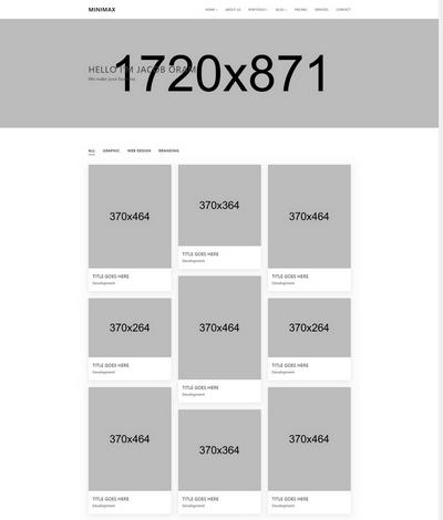Minimax �C 简洁作品展示HTML静