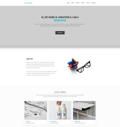 大气创意包装设计公司html网站模