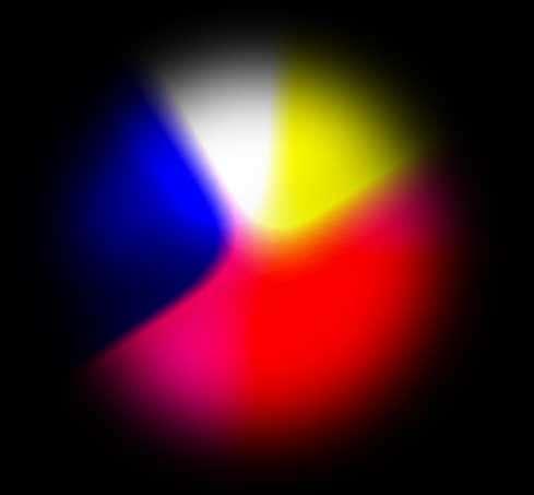 彩色的熔岩球动画特效