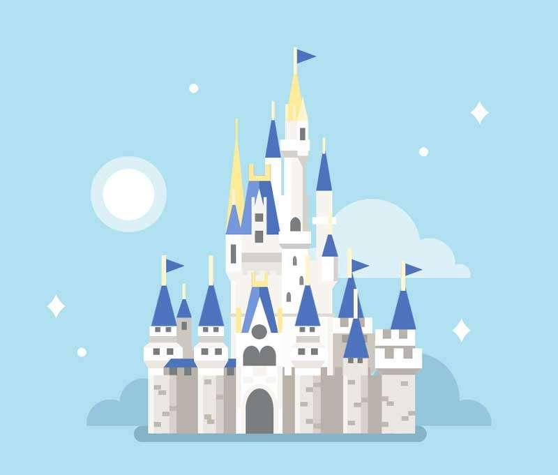 卡通魔法城堡ui图形特效