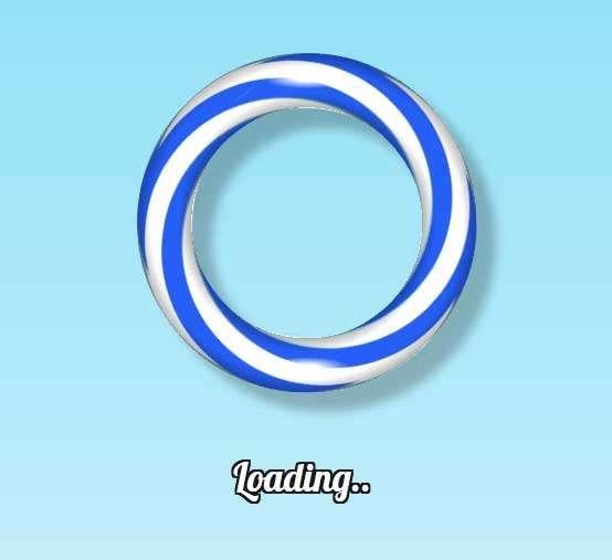 3D糖果环形旋转加载动画特效
