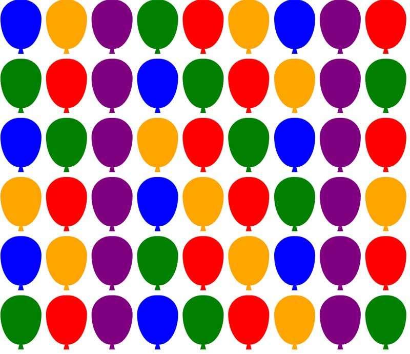 彩色的气球矩阵ui布局特效