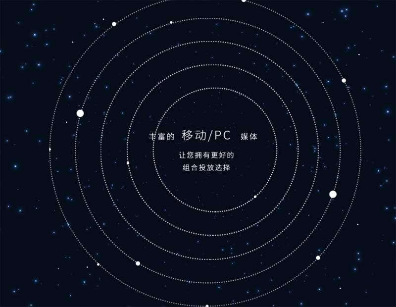 星空圆圈视差背景动画特效