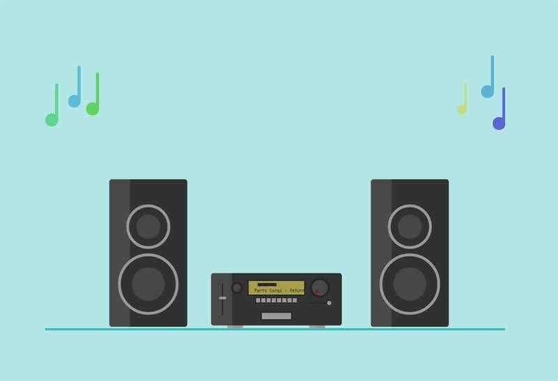 音箱音乐音符svg动画特效