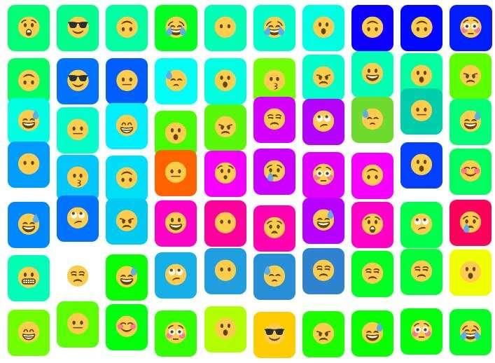 有趣的表情波浪悬停动画特效