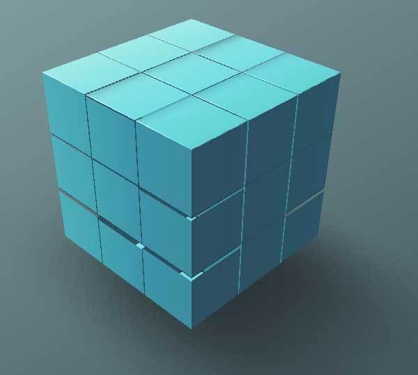 纯css3绘制三维数据包结构动画特效
