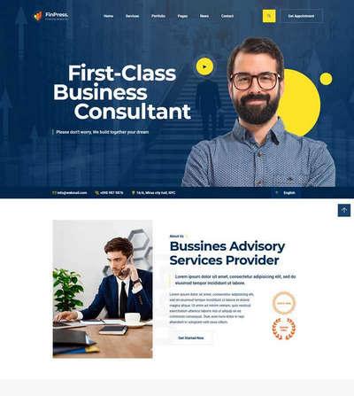 商务咨询服务公司官网HTML静态模板