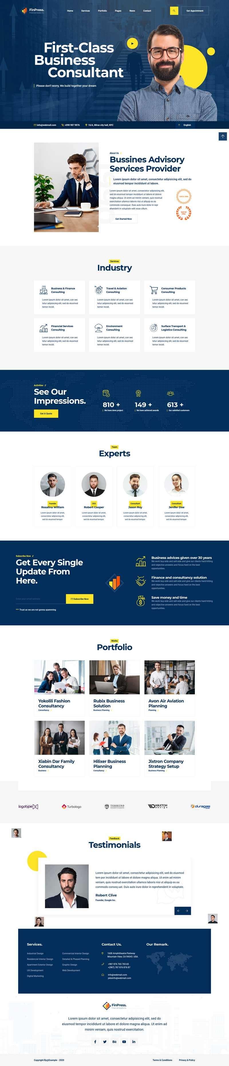 商务咨询服务公司官网HTML模板