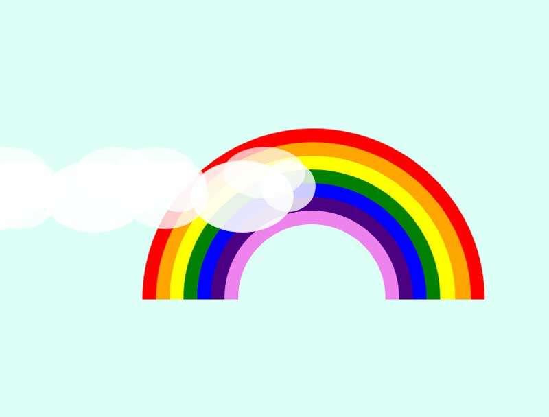 彩虹和白云网页元素特效