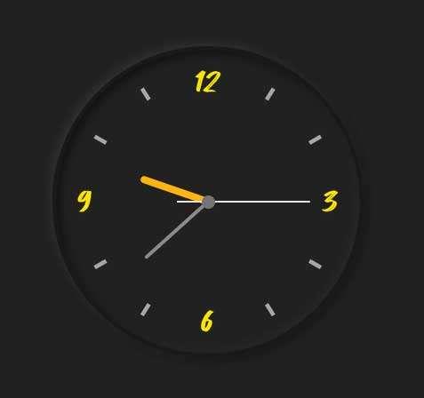 黑色创意的圆形时钟代码