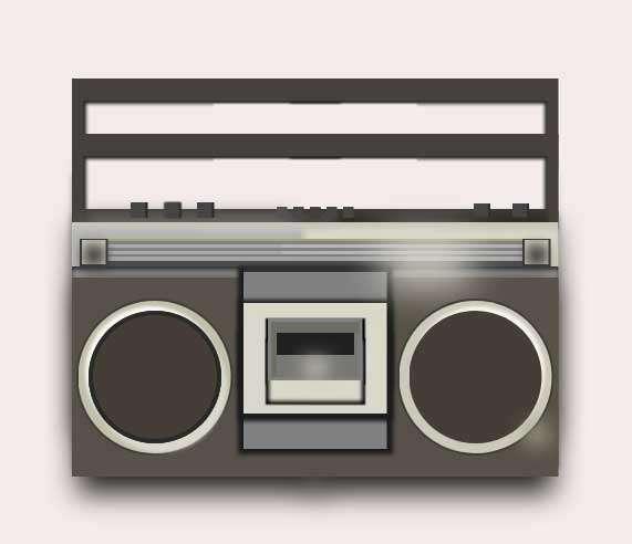 复古磁带录音机ui特效