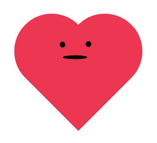 红色的爱心表情动画特效