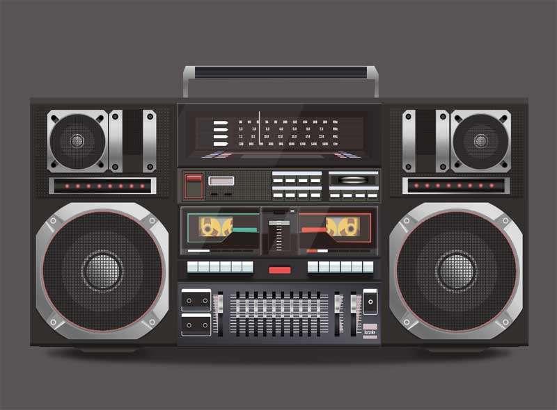 精美的多功能录音机特效