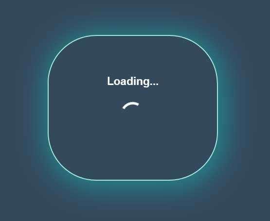 发光的loading加载框动画特效