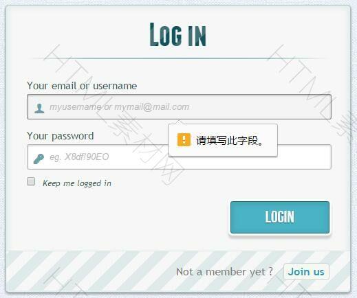 HTML5+CSS3制作的登录和注册模板