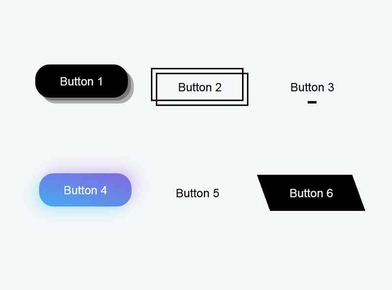 css3按钮悬停动画特效