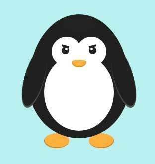 卡通企鹅UI动画特效