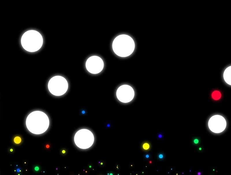 自由落体粒子爆炸动画特效