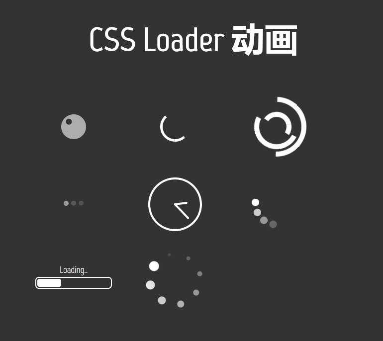 创意的loader图标加载特效