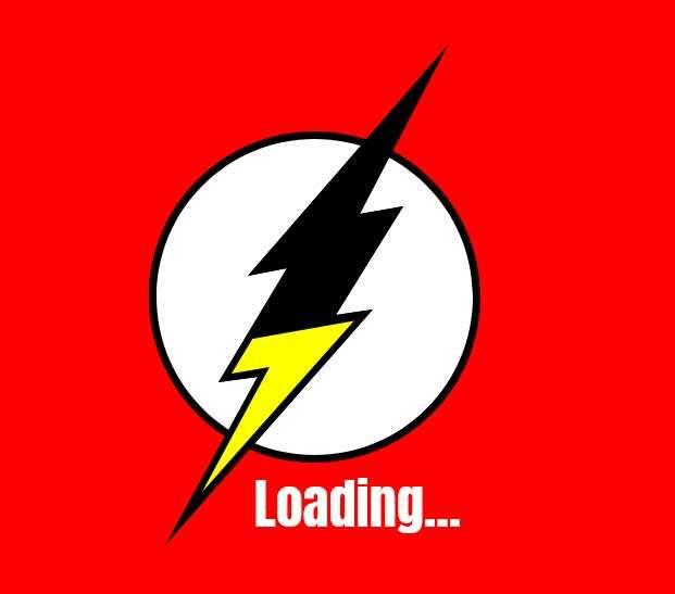 卡通的闪电加载动画特效