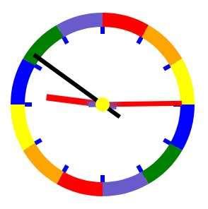 H5圆形的彩虹时钟特效