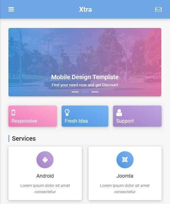 响应式的电商产品展示手机html静态模板