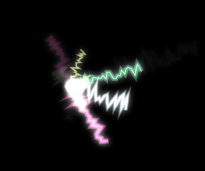 H5彩色的闪电动画特效