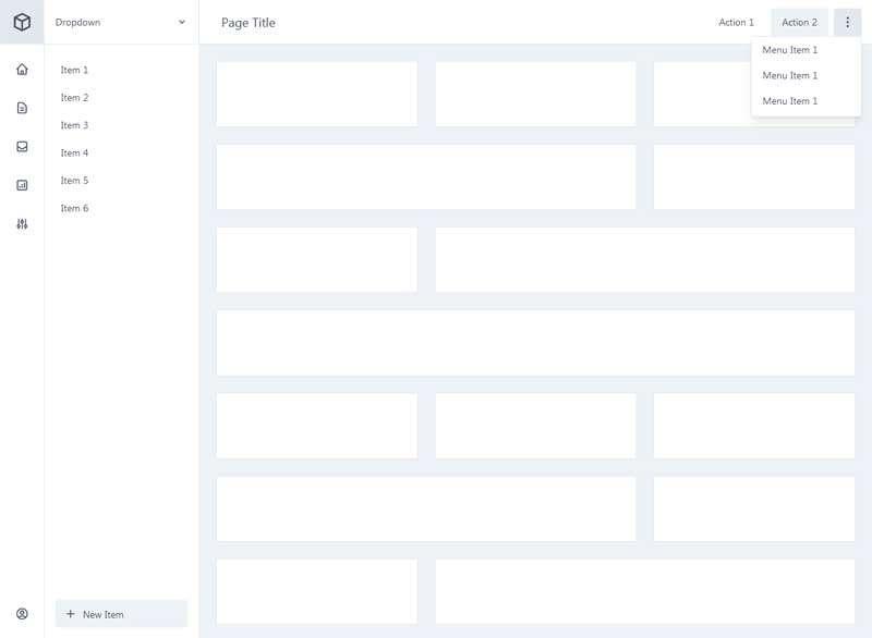 通用的app应用程序后台界面ui布局