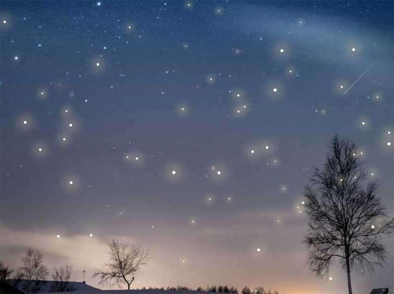 透明闪烁的星星飘散特效